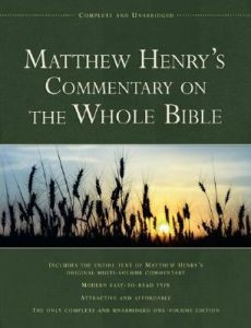 1598566121 | Matthew Henry's Commentary on the Whole Bible