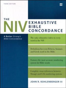0310262933 | NIV Exhaustive Bible Concordance (Third Edition)