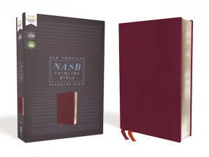 NASB Thinline Bible Comfort Print Burgundy Bonded Leather