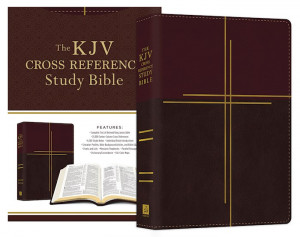 168322597X | KJV Cross Reference Study Bible Compact Mahogany Cross Softcover