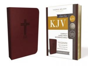 0785215905 | KJV Compact Large Print Reference Bible (Comfort Print) Burgundy Leathersoft