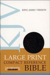 1598565583   KJV Compact Large Print Reference Bible Bonded Leather Black