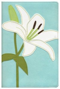 0310935822 | NIV Thinline Bloom Collection Bible Italian Duo-Tone White Lily