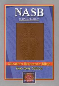 1581351399 | NASB UltraThin Reference Bible Brown Diamond Leathertex
