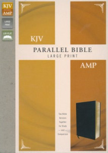 0310446694 | KJV and Amplified Parallel Bible Large Print Black Bonded Leather