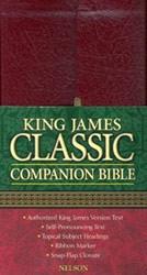 0718003292 | KJV Classic Companion Bible-Snap Flap
