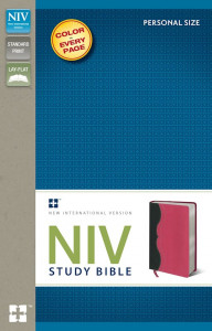 0310437369 | NIV Study Bible/Personal Size Charcoal/Pink Duo-Tone