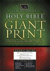 0785202870 | KJV Giant Print Classic Reference Bible-Center Column