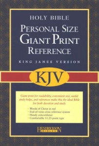 1598560972 | KJV Reference Bible Personal-Sized Giant Print Imitation Leather Burgundy