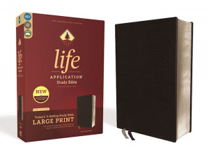0310452880 | NIV Life Application Study Bible Large Print Black Bonded Leather