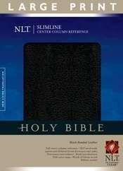 1414338473 | NLT Slimline Reference Bible Large Print Bonded Black Leather