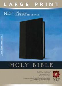 1414397623 | NLT Premium Slimline Reference Large Print Bible Black Onyx TuTone