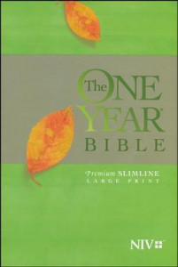 NIV One Year Bible Premium Slimline Large Print Softcover