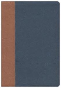 1683071514 | NKJV/Amplified Parallel Bible Large Print-Blue/Brown Flexisoft Leather