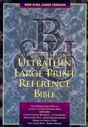 1558196447 | NKJV Ultrathin Large Print Reference Bible