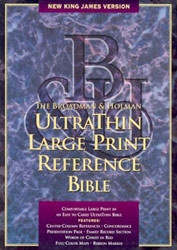 1558196455 | NKJV Ultrathin Large Print Reference Bible