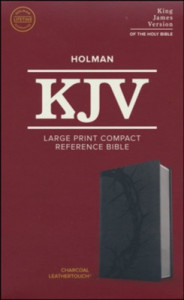 1535935766 | KJV Large Print Compact Reference Bible Charcoal LeatherTouch