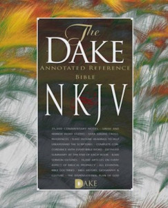 1558290931 | NKJV Dake Annotated Reference Bible Black Bonded Leather