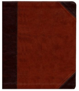 ESV Journaling Bible Brown/Cordovan Portfolio TruTone