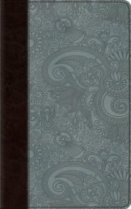 143354573X | ESV Thinline Bible Chocolate/Blue Garden Design TruTone