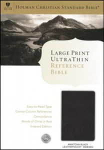 1433603497 | HCSB Large Print UltraThin Reference Bible