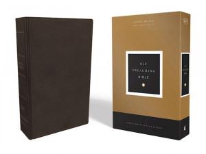 0785222839 | KJV Preaching Bible Comfort Print Premium Calfskin Leather Mahogany