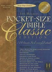 1586401947 | KJV Pocket-Size Bible-Classic Snap-Flap Closure