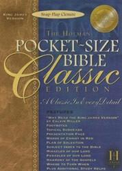 1586401955 | KJV Pocket-Size Bible-Classic Snap Flap Closure