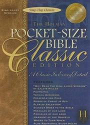 1586401963 | KJV Pocket-Size Bible-Classic Snap-Flap Closure
