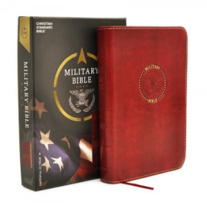 CSB Military Bible For Marines Burgundy LeatherTouch
