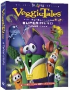 5558376732 | DVD Veggie Tales/Bumblyburg Super Hero Pack(3 DVD)
