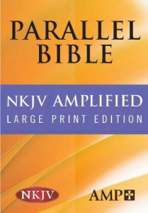 1598562967 | NKJV Amplified Parallel Bible Large Print Black Bonded LeatherParallel Bible
