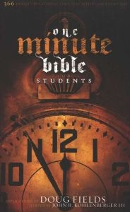 0805445404 | One Minute Bible for Students: 366 Devotions Connecting You with God Every Day