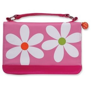 0310822254 | Bible Cover Microfiber Daisy with Zipper Pocket