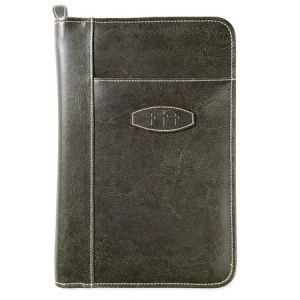 0310815665   Bible Cover Leather Look Dark Earth X-Large