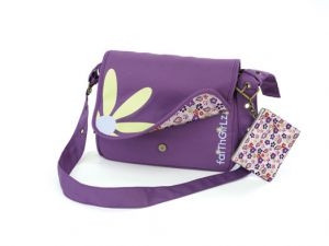 0310822246 | Bible Cover Faithgirlz Messenger Bag Grape Medium