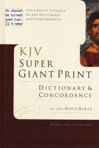 0805494928 | KJV Super Giant-Print Dictionary & Concordance
