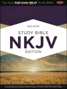 1433605120 | NKJV Holman Study Bible Full Color Black Genuine Leather