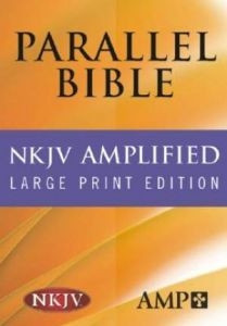 1598562959   NKJV Amplified Parallel Bible Hardcover Large Print