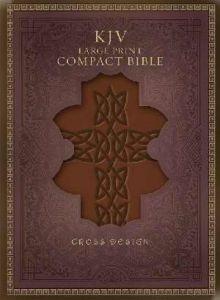 1586404644 | KJV Large Prt Compact Cross Design Bible