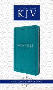 1432117548 | KJV Gift Edition Bible Turquoise LuxLeather