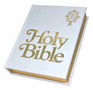 0529065193 | NABRE Catholic Family Bible White Imitation Leather