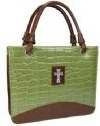 364505 | Bible Cover-Glossy Croc Embossed Purse Style