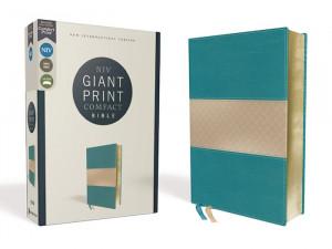 0310454751 | NIV Giant Print Compact Bible Comfort Print Teal Leathersoft