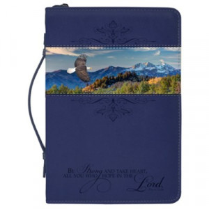 759830214315 | Bible Cover Canvas Large Navy Blue