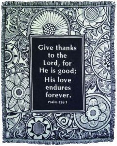 045043 | Blanket Give Thanks Throw