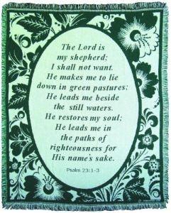 045044 | Blanket Lord Is My Shepherd Throw
