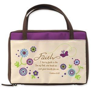 988643   Bible Cover Garden Virtues Faith MED