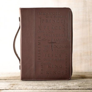 6006937082564 | Bible Cover Names Of Jesus Large Burgundy Two Tone Luxleather