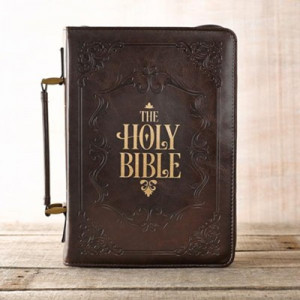 6006937124202 | Bible Cover Classic Holy Bible Large Brown